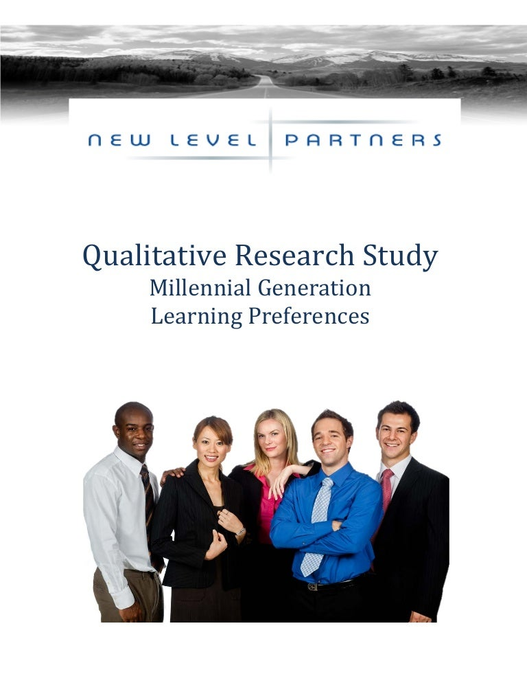 the millennial generation research review